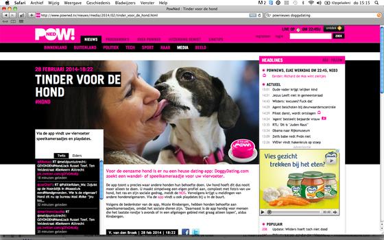 Voor de eenzame hond is er nu een heuse dating-app: DoggyDating.com zoekt een wandel- of speelkameraadje voor uw viervoeter.