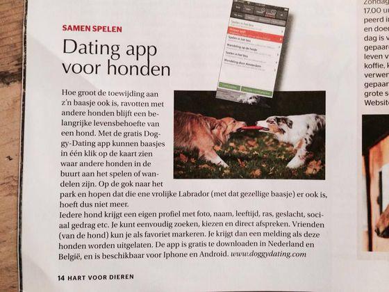 Dating app voor honden in Hart voor Dieren