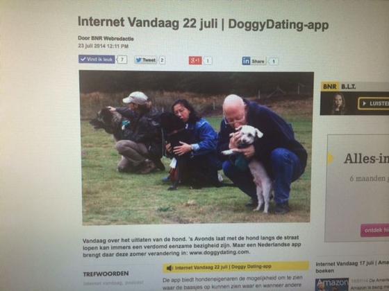 De DoggyDating app biedt hondeneigenaren de mogelijkheid om te zien waar de baasjes op kunnen zien waar en wanneer andere honden worden uitgelaten