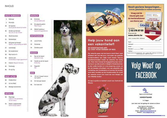 WOEF magazine over de DoggyDating app en honden op vakantie.