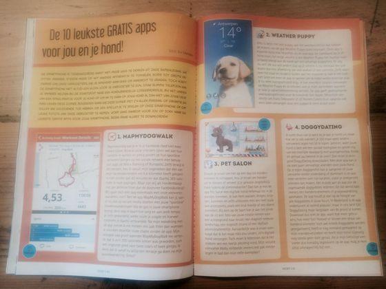 Leuk artikel over DoggyDating en de 9 andere leukste apps voor hondenn het meest gelezen hondenmagazine van Belgie
