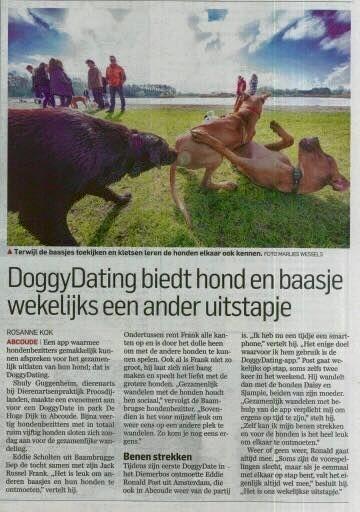 DoggyDating biedt hond en baasje wekelijks een ander uitstapje