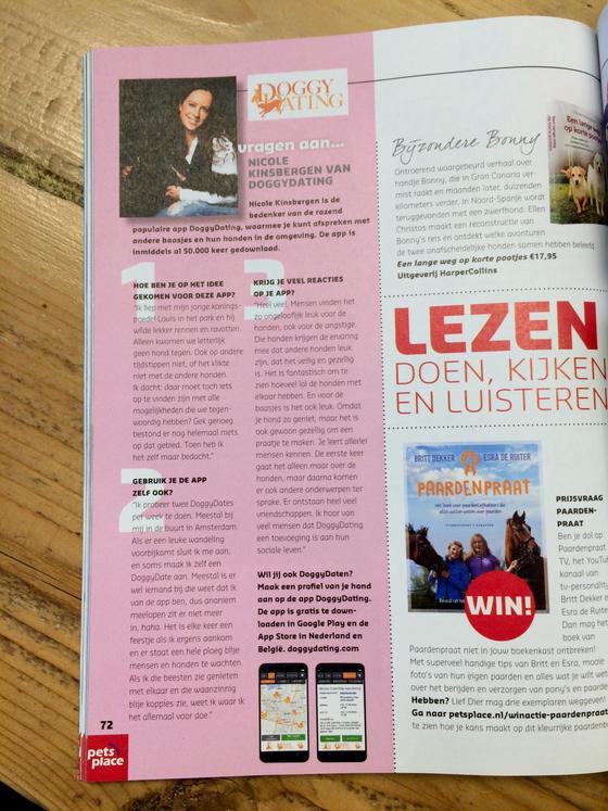 Lief Dier magazine, 3 vragen aan Nicole Kinsbergen van DoggyDating