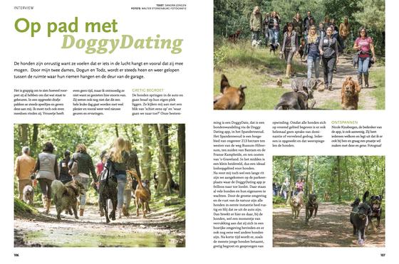 Onze Hond magazine december 2016Op stap met DoggyDating 01