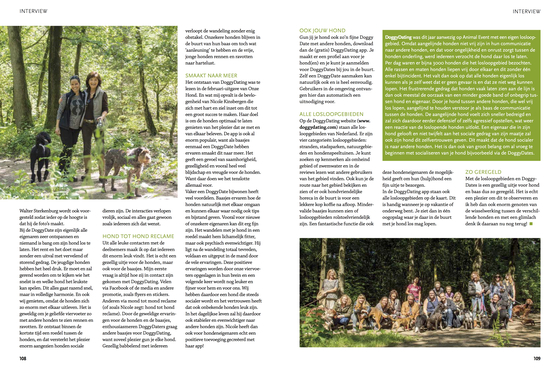 Onze Hond magazineOp stap met DoggyDating 02
