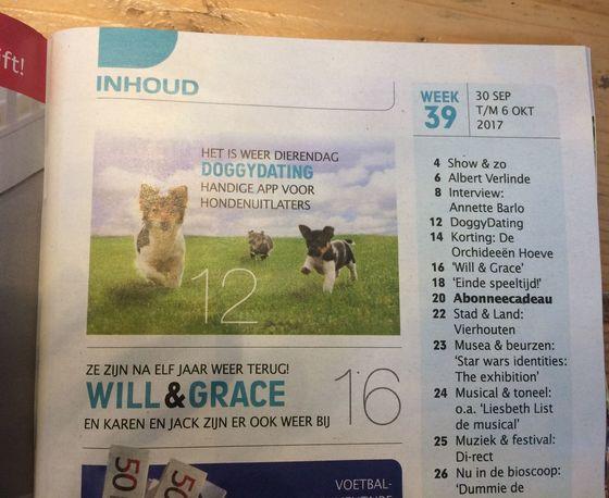 Troskompas DoggyDating Handige app voor hondenuitlaters
