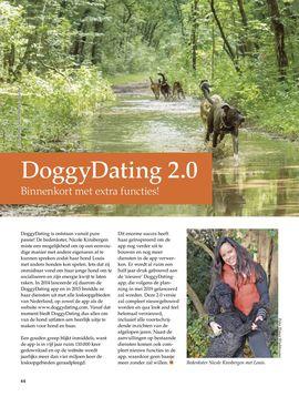 DoggyDating 2.0 Binnenkort met extra functies!Onze Hond magazine nr4 2019