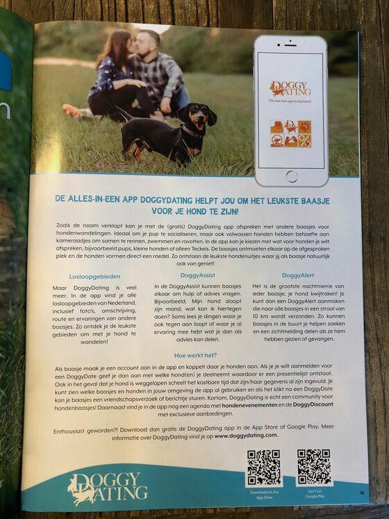 Teckel Magazine, De alles-in-een app DoggyDating helpt jou om het leukste baasje voor je hond te zijn!